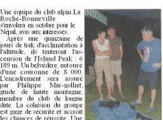 Club Alpin : Expédition au Népal