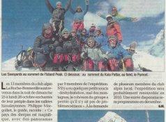 Club alpin : Retour de l'expédition au Népal